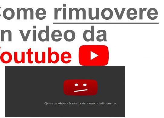 come eliminare o nascondere un video da youtube