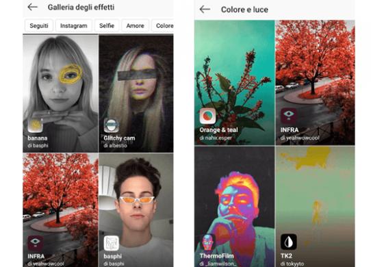 Come accedere ai filtri degli altri utenti e a quelli più usati su Instagram