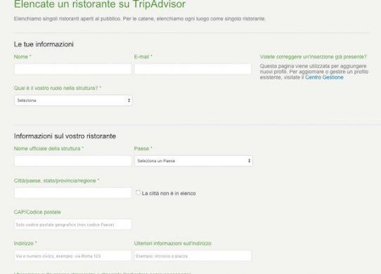 Come registrare la propria struttura su TripAdvisor