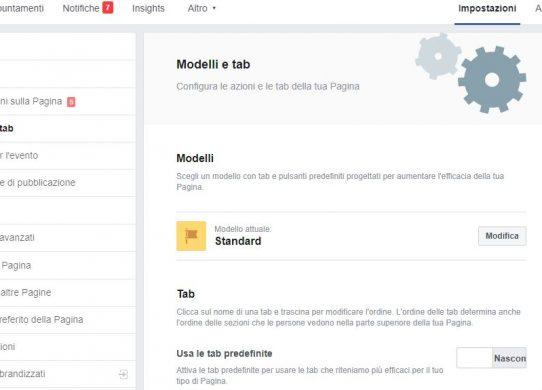come personalizzare una pagina facebook