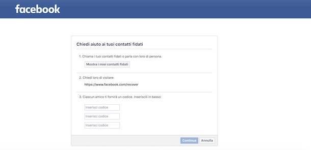 Come entrare su Facebook senza email e password